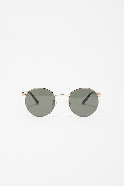 Metal Round Rimless Sunglasses