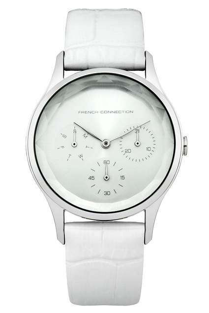 White Gloss Leather Watch