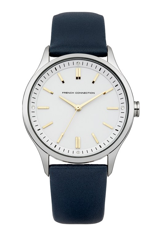 MOLLARD Polished Leather Strap Watch