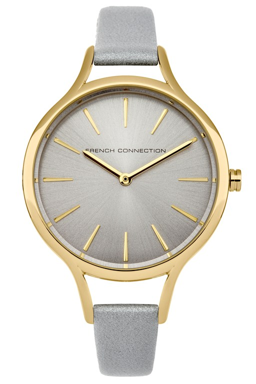 Complete the Look Gold Round and Polished Case Watch