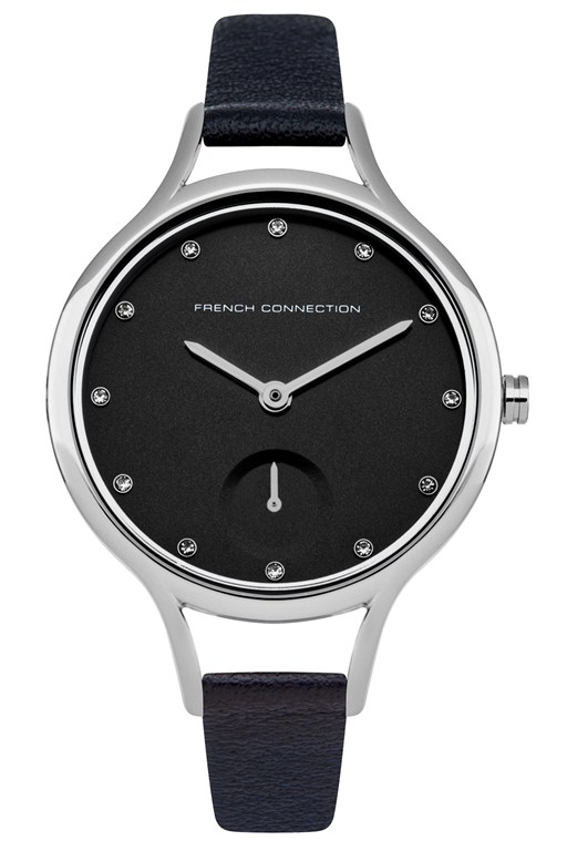 daisy classic 32mm slim leather strap watch