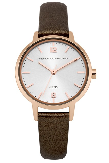 30MM Pearlised Leather Strap Watch