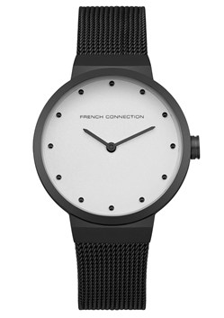 Black Mesh Strap Watch