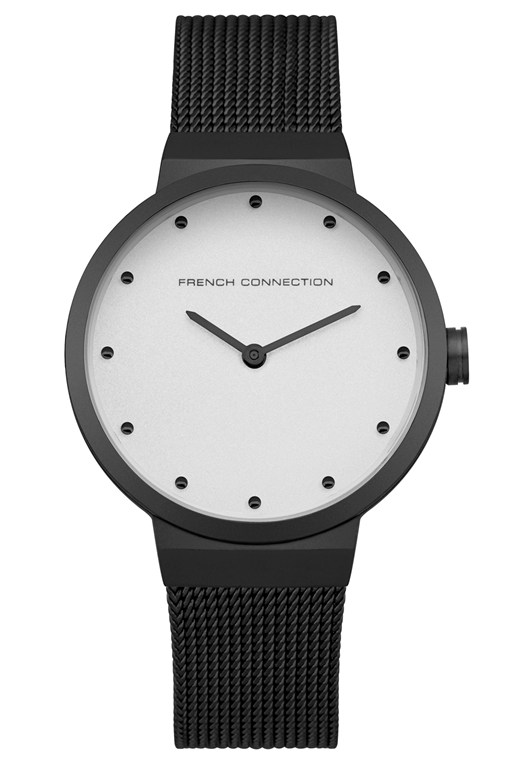 Complete the Look Black Mesh Strap Watch