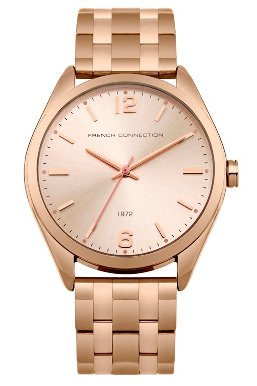 Complete the Look Rose Gold Steel Bracelet Watch