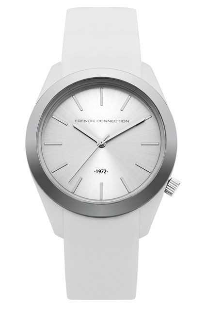 Silicone Metal Plated Watch - white thumbnail