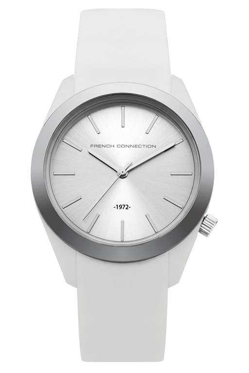 silicone metal plated watch