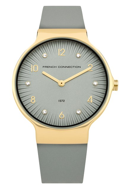 Stone Face Leather Strap Watch - stone thumbnail