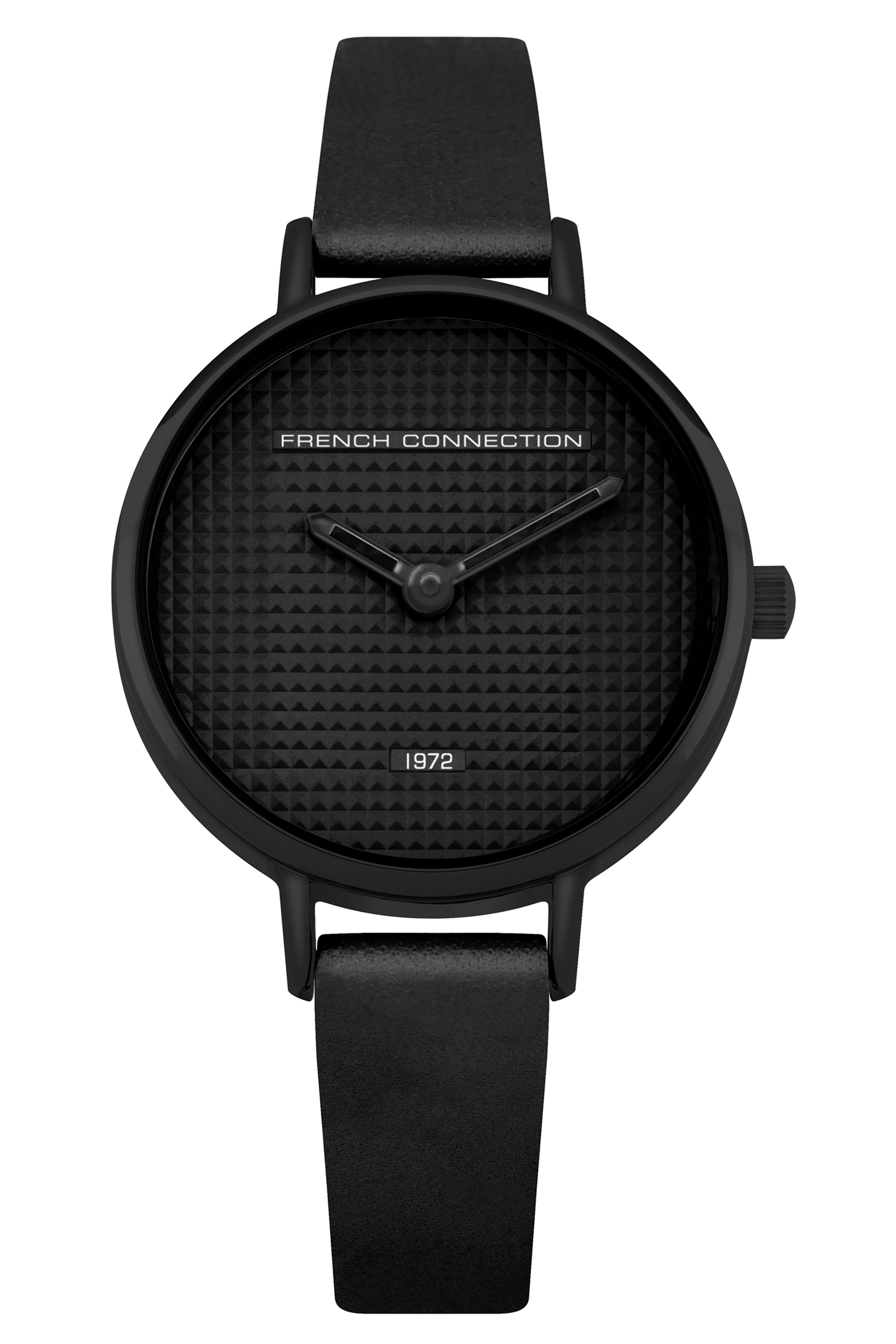 Black Small Dial Watch - black