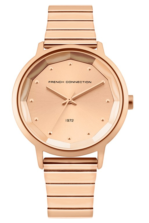 rose sunray link bracelet watch