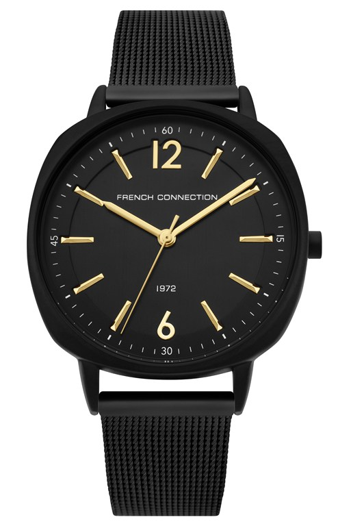 Complete the Look Square Black Mesh Strap Watch