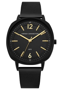 Square Black Mesh Strap Watch