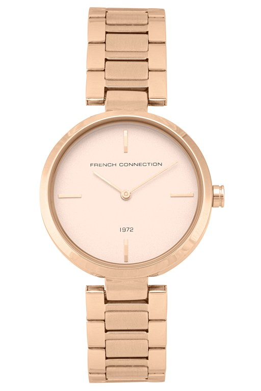 rose gold link bracelet watch