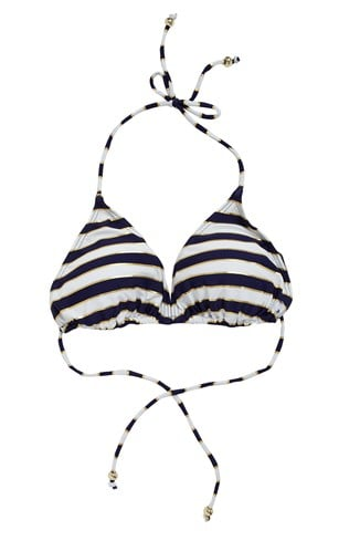 Sun & Sea Striped Bikini Top