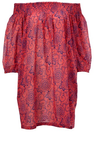 French Connection Flora & Fauna Off-The-Shoulder Dress
