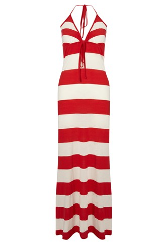 Sun & Sea Striped Maxi Dress