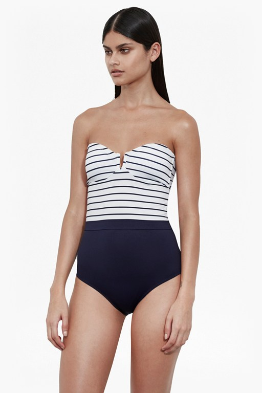 bandeau halter neck swimsuit