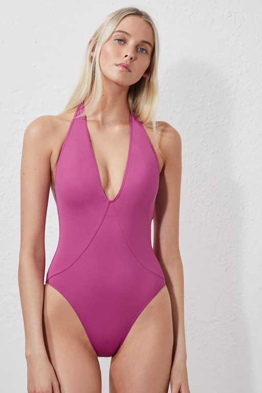 halter neck swimming costume