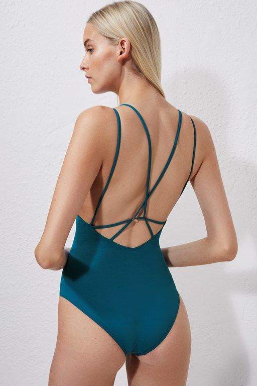 cross back swimming costume