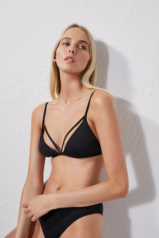 strappy triangle bikini top