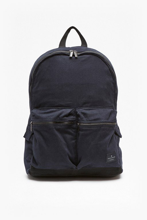 aviator zip pockets canvas backpack