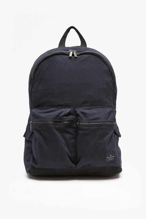 Complete the Look Aviator Zip Pockets Canvas Backpack