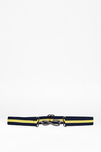 Third Degree Striped Canvas Belt