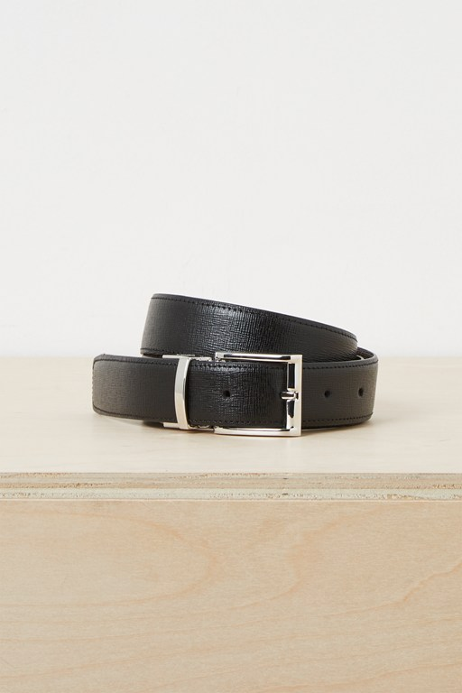 silas saffiano reversible belt