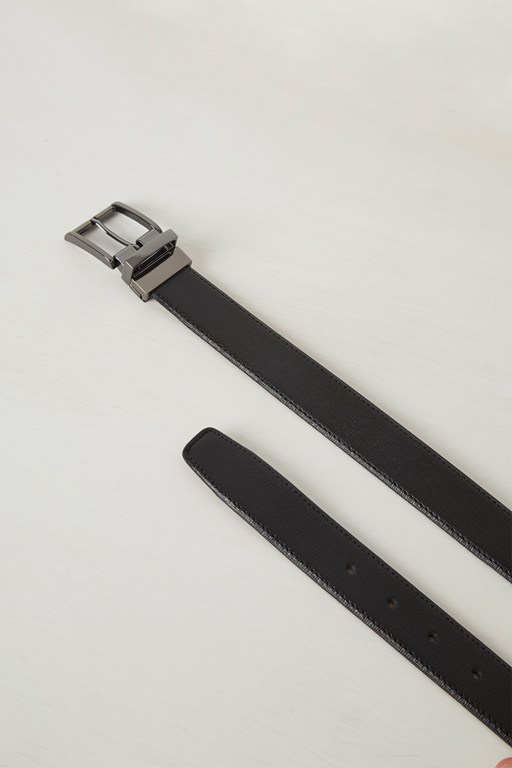 Complete the Look Renzo Saffiano Reversible Belt