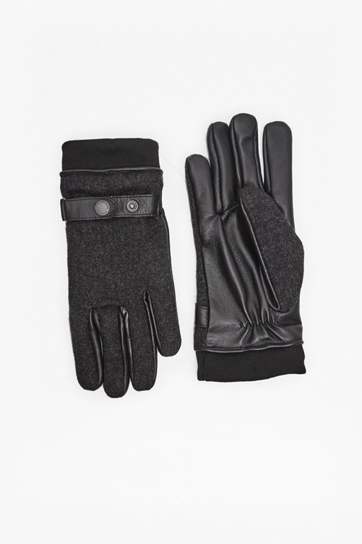 Complete the Look Wool and Leather Gloves