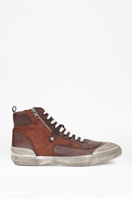 Terry Leather Zipped Trainers