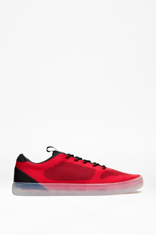 carlin knit textured trainers