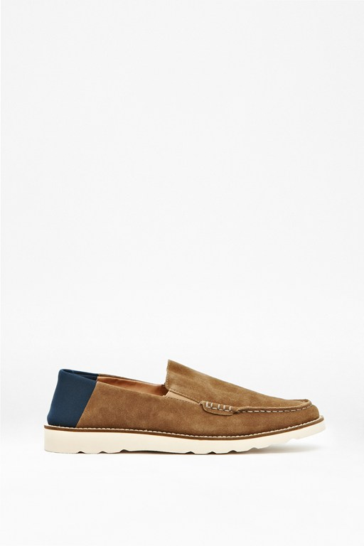 Complete the Look Cain Slip-On Suede Loafers