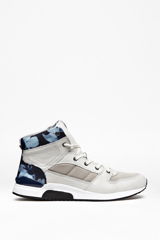 Complete the Look Charles Leather Hi-Top Trainers