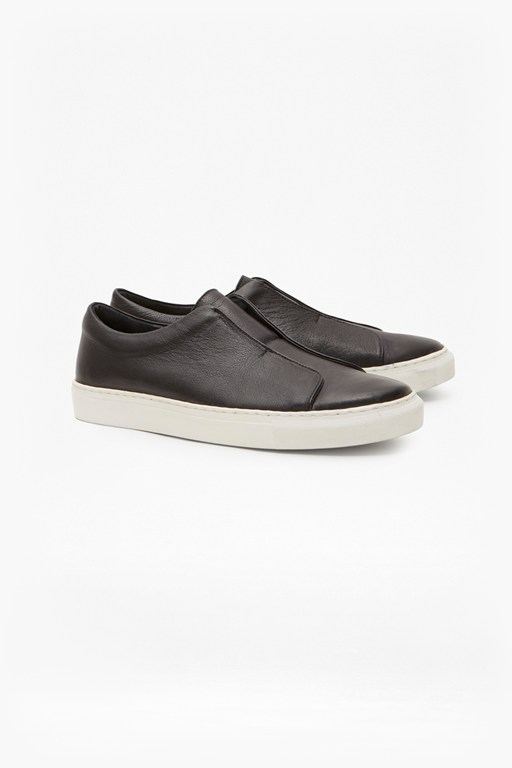 non eyelet cupsole leather trainers