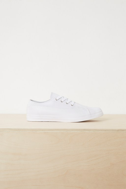 alex rubber canvas eyelet trainers