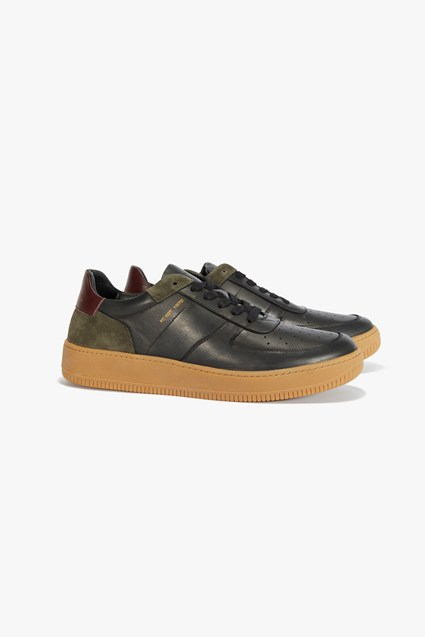 Aaron Leather Lace Up Trainers