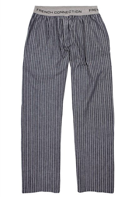 Cable Striped Indigo Lounge Trousers