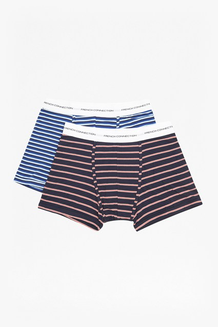 2 Pack Collar Stripe Boxer Briefs