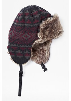 Nordic Fair Isle Knitted Trapper Hat