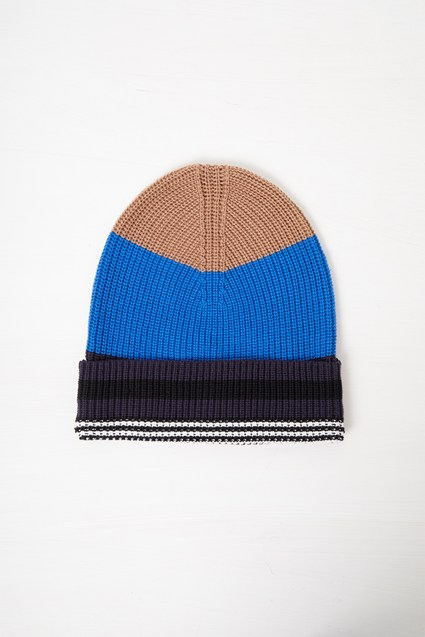Cotton Stripe Beanie