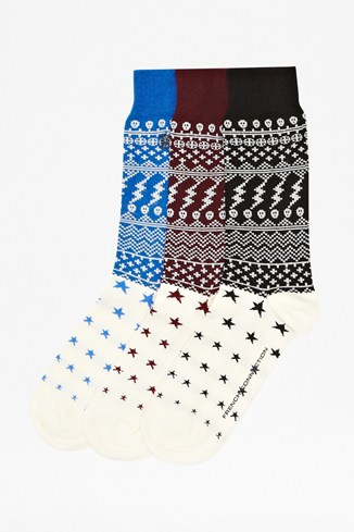 Three Pack Starry Socks