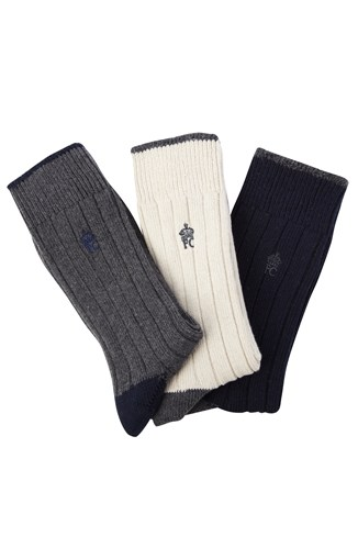 Three Pack Mind The Plank Socks