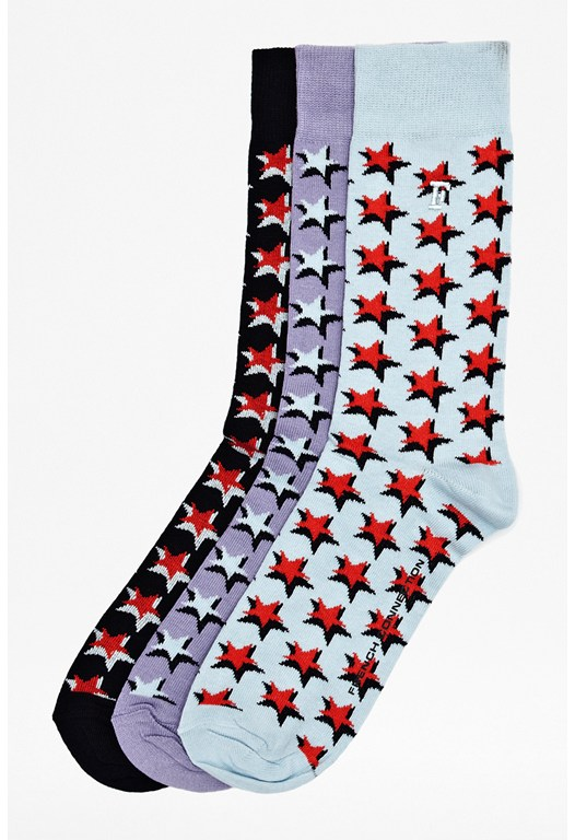 Three Pack Aiden Star Socks