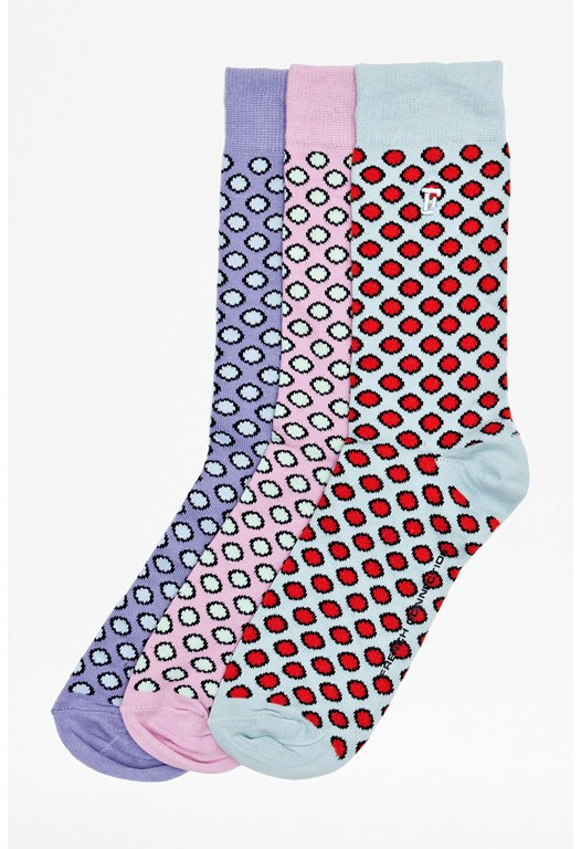 Three Pack Leo Dot Socks