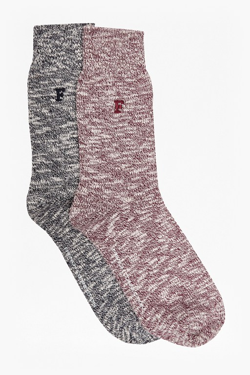 winston 2 pack twisted block socks