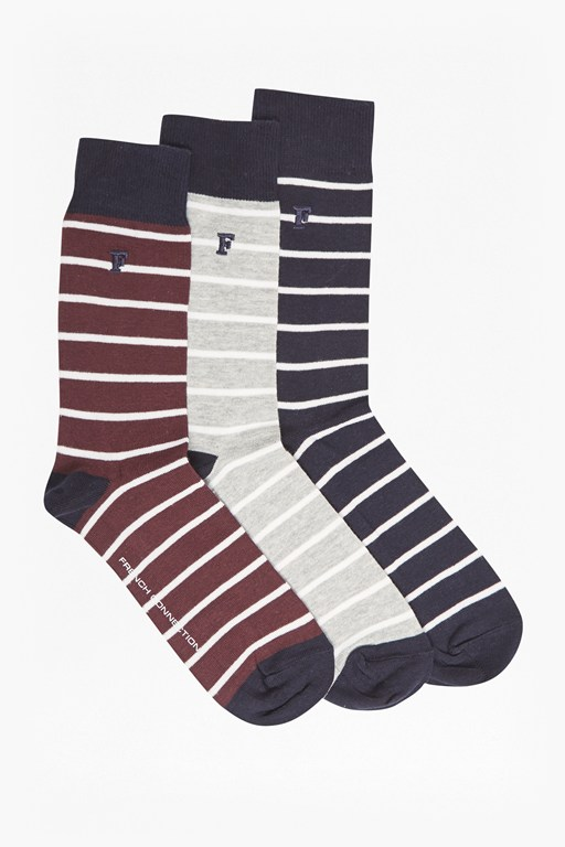 Complete the Look Maverick Mini Stripe Pack of 3 Socks