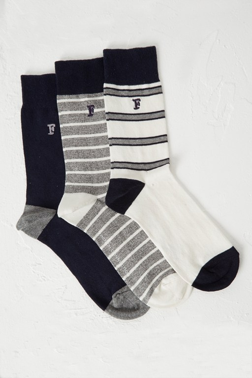 3 pack oakley stripe socks