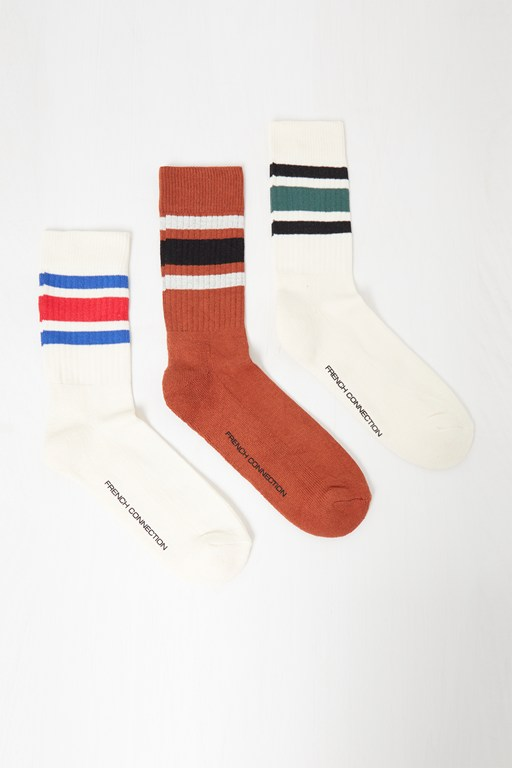 Complete the Look 3 Pack Sport Stripe Socks