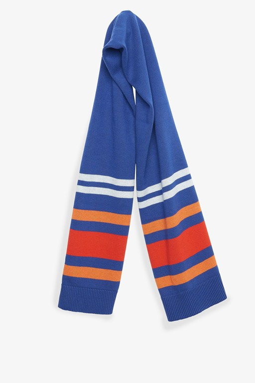pop colour stripe scarf